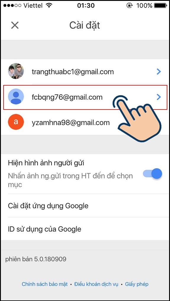 cách đổi tên gmail