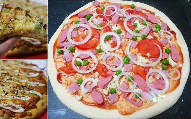 bánh pizza, làm bánh pizza, cách làm bánh pizza