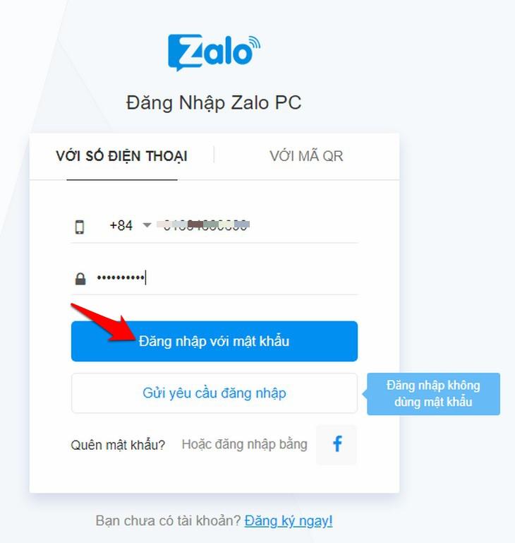 đăng nhập zalo máy tính