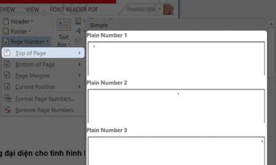 Những cách đánh số trang trong word 2010 như ý muốn