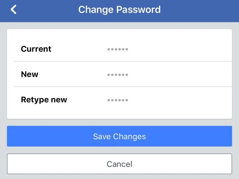 đổi mật khẩu facebook,  mật khẩu facebook