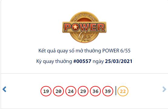 Vietlott 25/3, kết quả xổ số Vietlott hôm nay, xổ số Vietlott Power 6/55