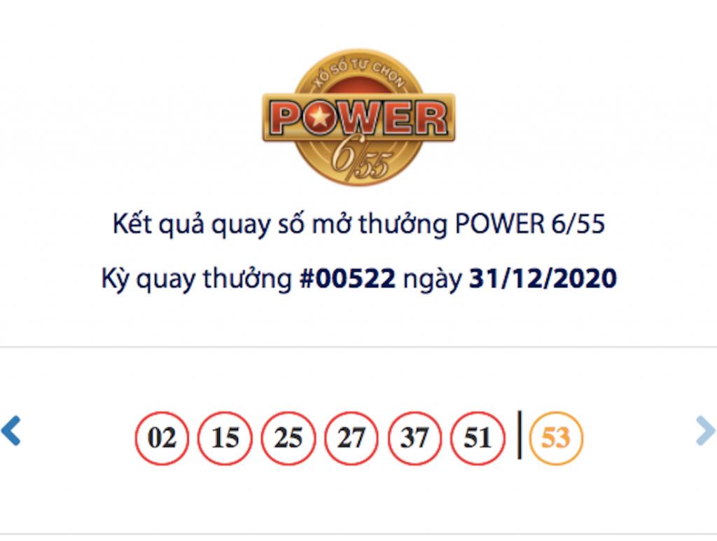 Vietlott 31/12, kết quả xổ số Vietlott hôm nay, xổ số Vietlott Power 6/55