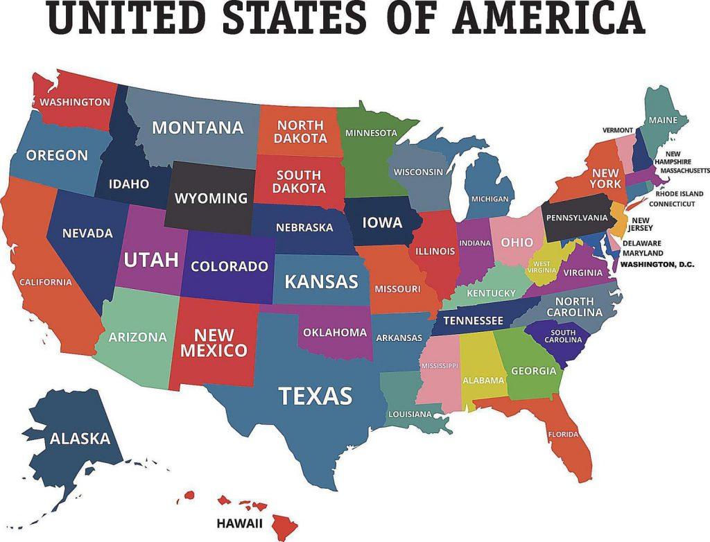 mỹ có bao nhiêu bang, số bang của mỹ