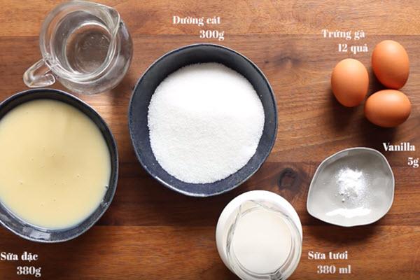 cách làm bánh flan, bánh flan