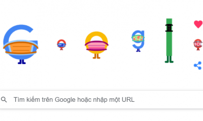Phòng chống COVID 19: Google Doodle nhấn mạnh tầm quan trọng của việc đeo khẩu trang