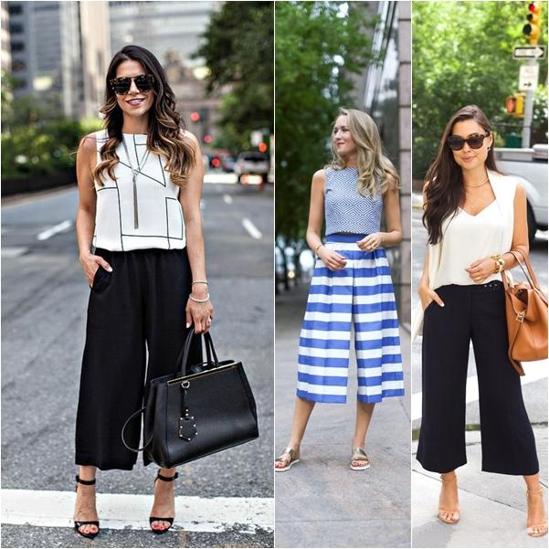 quần culottes, mix quần culottes