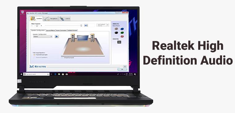 Realtek HD Audio Manager là gì?