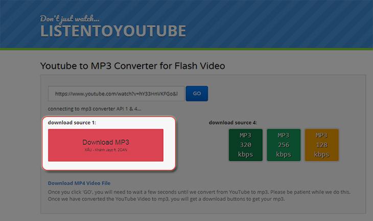 cách tải file mp3 từ youtube, tải file mp3 từ youtube