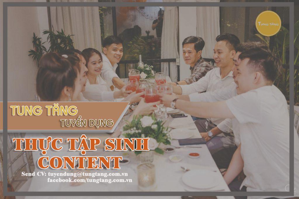 thực tập sinh Content Marketing, thực tập sinh Content, tuyển thực tập sinh Content Marketing