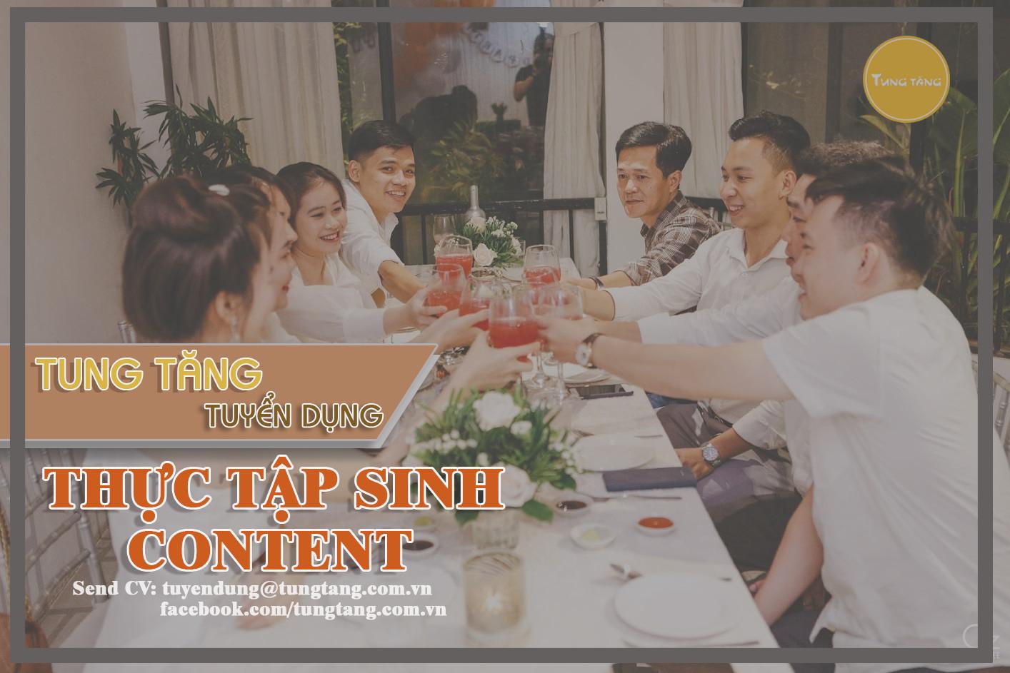 Tuyển Thực tập sinh Content Marketing, ưu tiên Nam