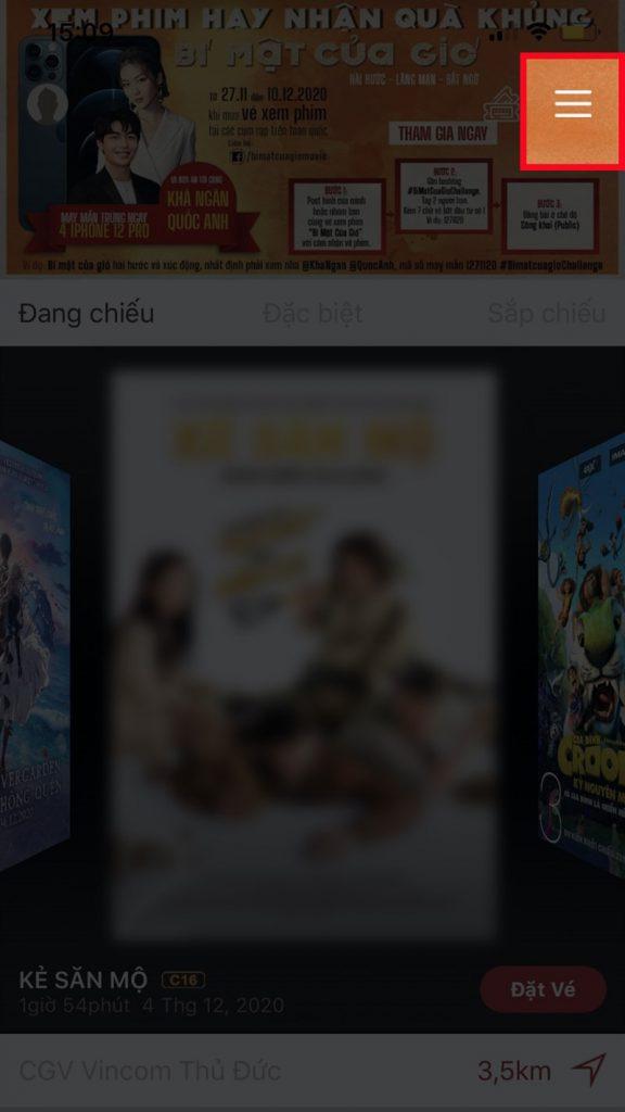 cách đặt vé xem phim CGV trên điện thoại, đặt vé xem phim CGV, cách đặt vé xem phim