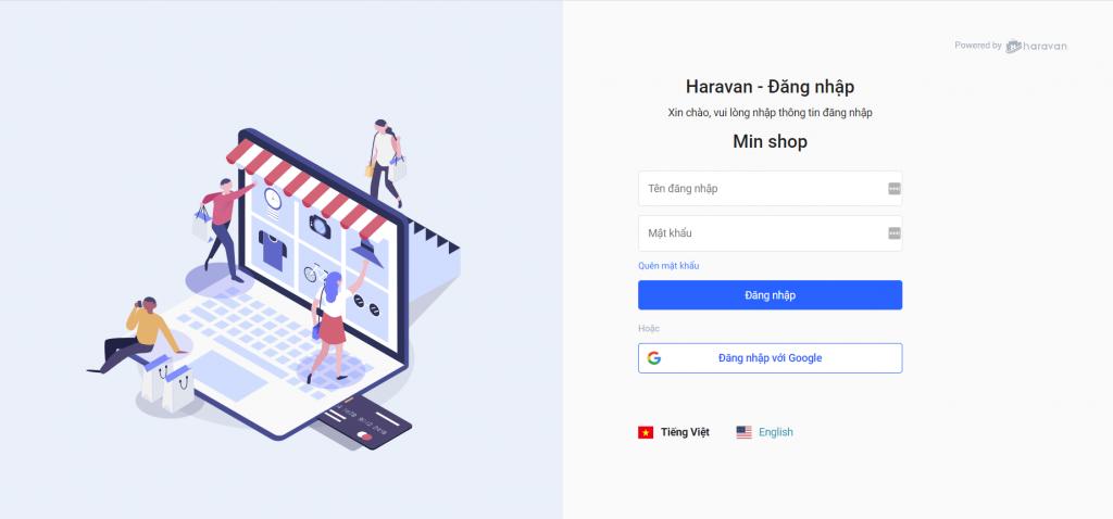 đăng nhập haravan, cách đăng nhập haravan, bán hàng haravan