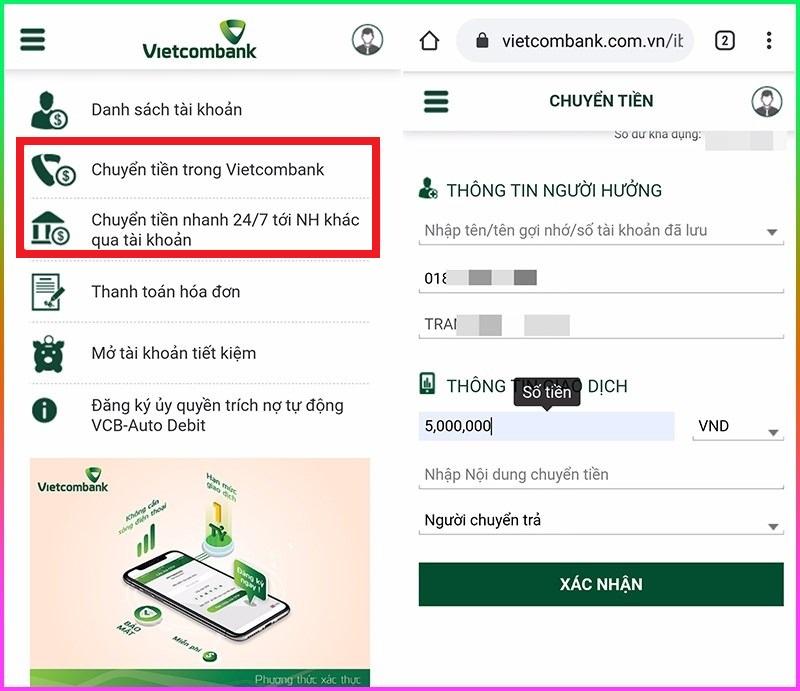 Cách sử dụng Internet Banking Vietcombank, Internet Banking Vietcombank, Vietcombank, ibanking viecombank