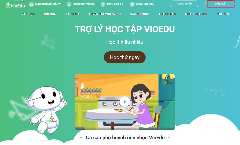 Cách đăng ký VioEdu cho học sinh chi tiết và mới nhất 2021