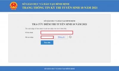 Tra cứu điểm thi lớp 10 tỉnh Bình Định 2021 mới và chính xác nhất