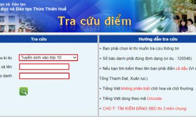 Cách tra cứu điểm thi lớp 10 tỉnh Thừa Thiên Huế năm 2021 nhanh nhất