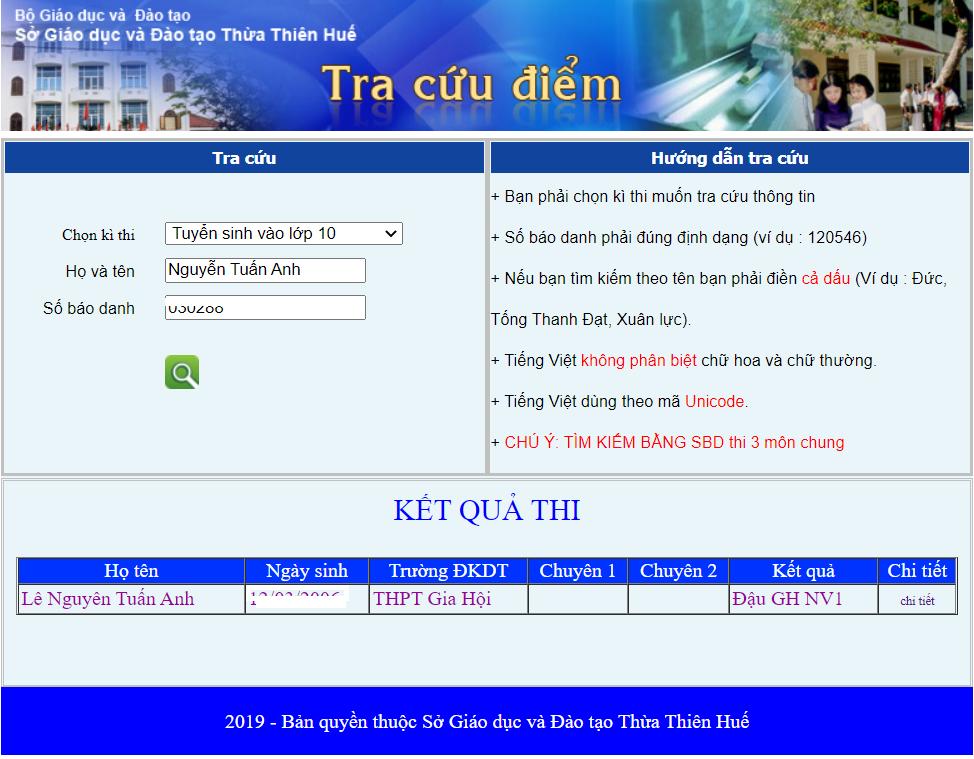tra cứu điểm thi lớp 10 tỉnh Thừa Thiên Huế, tra cứu điểm thi lớp 10 Thừa Thiên Huế, tra cứu điểm thi lớp 10 tỉnh Thừa Thiên Huế 2021