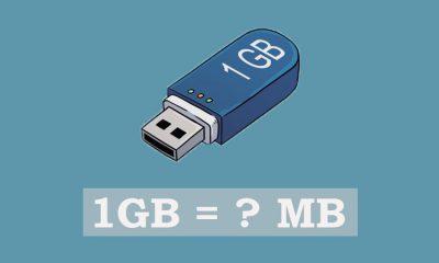 1 GB bằng bao nhiêu MB?