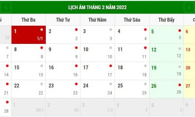 Tết Âm lịch 2022 vào ngày nào?